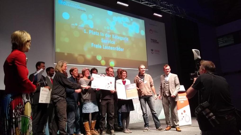 Forum Freie Lastenräder gewinnt den Deutschen Fahrradpreis