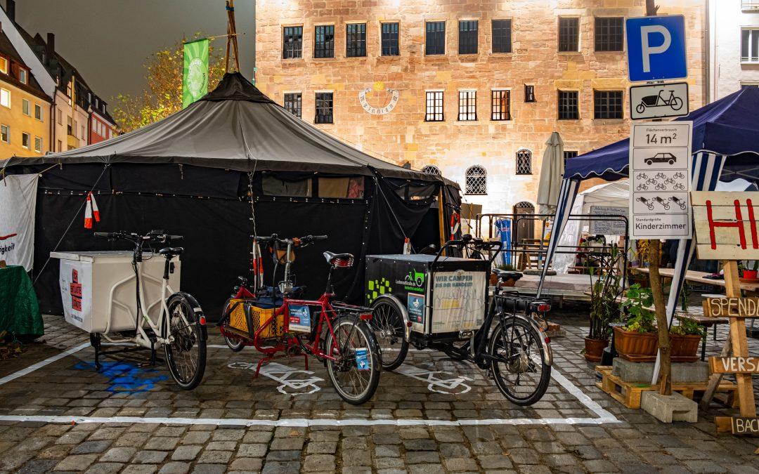 Nürnberg hat den ersten Lastenradparkplatz