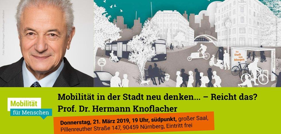 Prof. Dr. Hermann Knoflacher: Mobilität in der Stadt neu denken … – reicht das?