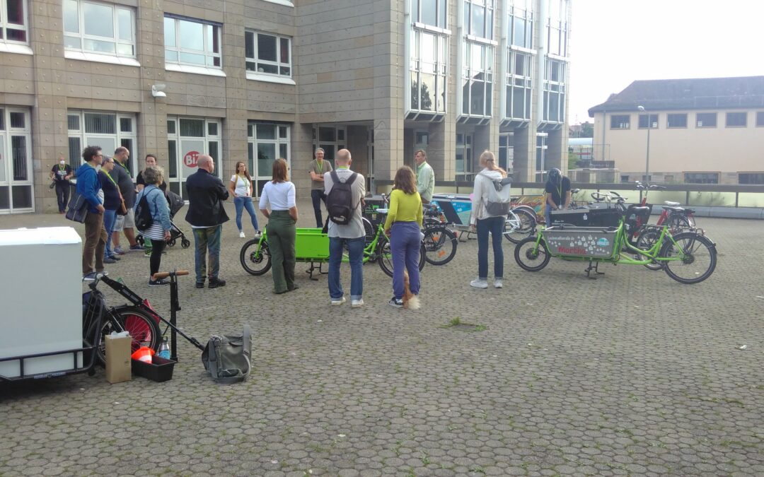 Stadt(ver)führungen 2021: Das Lastenrad – nachhaltige Mobilität in Aktion.